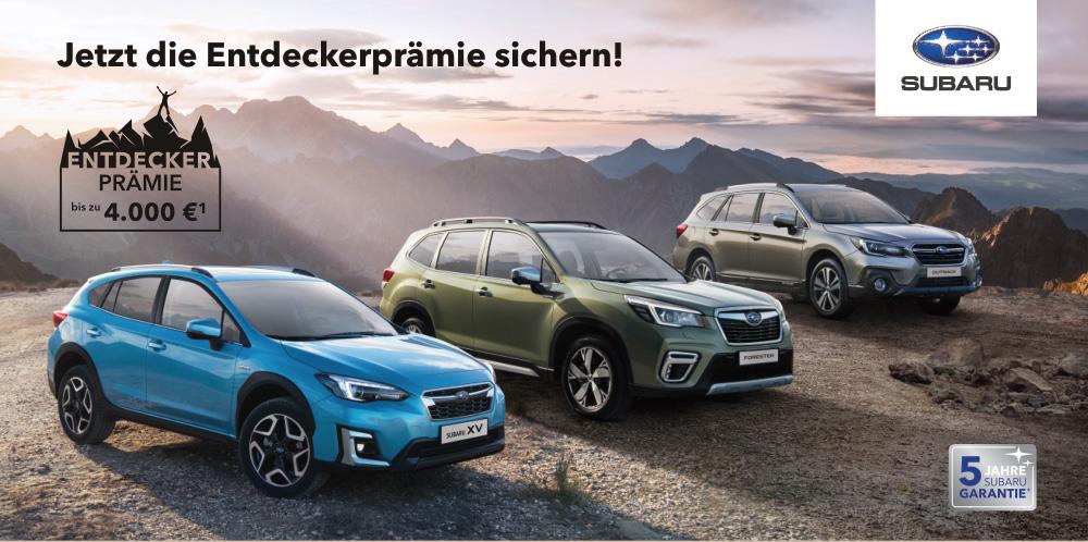 Jetzt die Subaru Entdeckerprämie sichern …